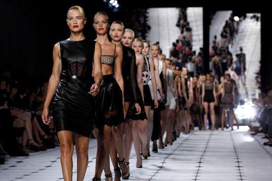 models walking on the runway in New York