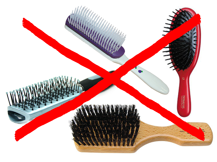 Brush -hair loss and brushing