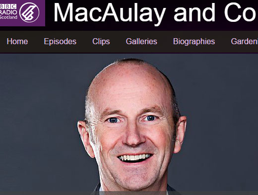 picture of bbc radio scotland macaulay and co and discussion of hair loss