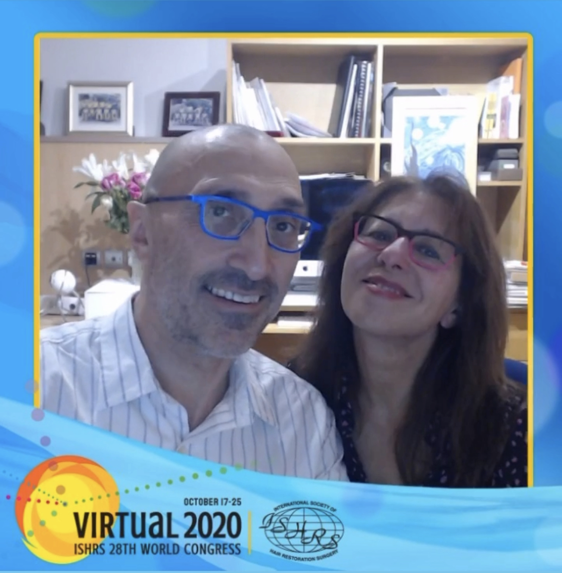 Dr Bessam & Nilofer Farjo Screenshot at virtual 2020 ISHRS